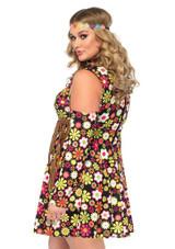 Starflower Hippie Plus Woman Costume back