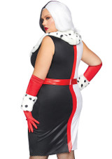 Cruela Devil Plus Woman Costume back
