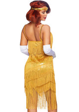 Dazzling Daisy Flapper Dress Woman Costume back