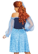 Blue Peasant Woman Costume back