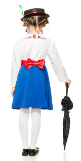 Mary Poppins Girls Costume back