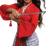 Girls Mulan Costume in Red Back view