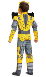 Transformers Bumblebee Child Costume Back view