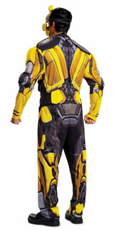 Bumblebee Transformers Adult Costume - Back View