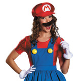Mario Skirt Womens Costume