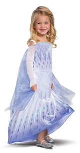 Frozen Elsa Deluxe Girl Costume Back View