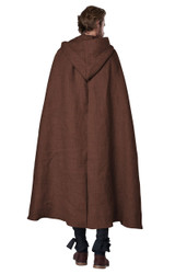 brown cloak with a hoodie for men