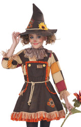 scarecrow patchwork girls costume