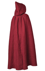 hooded cloak mens costume in red
