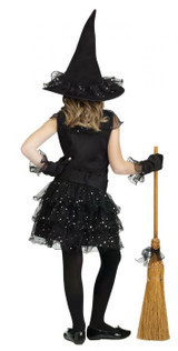 Glitter Girl Witch Costume for Ladies