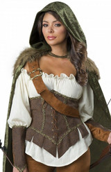 Robin Hood Woman Huntress Outfit