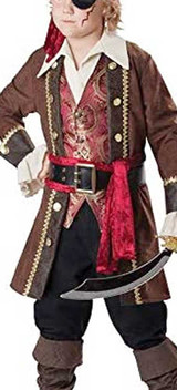 Camptain Skull Pirate Boy Outfit
