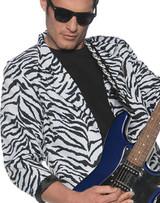 80s Style Zebra Blazer Rock Star Costume for Men