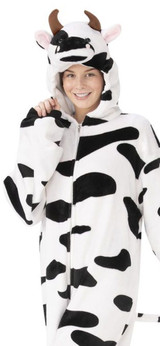 Cow Jumpsuit Hooded Halloween Outfit for Adults