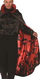 satin bat pattern cape accessory for men