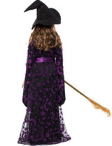 Witch girl purple costume