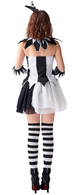 Black and white jester costume