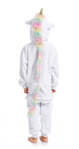 Pink unicorn onesie costume for girls