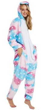 Womens Pot Blue Unicorn Onesie Costume