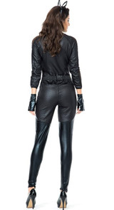 Womens cat leather jumpsuit