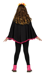 Day of the Dead Girl Poncho Costume