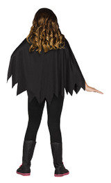 Bone-colored poncho costume for girls