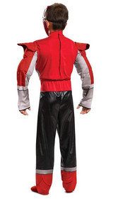 Red Power Rangers Power Up Mode Classic Costume