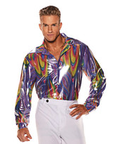 Rainbow Disco Shirt Man Costume