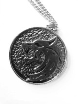 The Witcher Wolf Head Medallion - Zoom