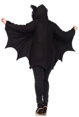 Cozy Bat Plus Size Costume Back View