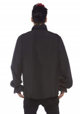 Ruffled Black Shirt for Men Back View