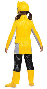 Yellow Ranger Costume for Kids - Back view