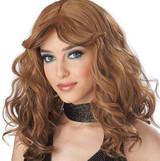 Disco Night Brown Womens Wig
