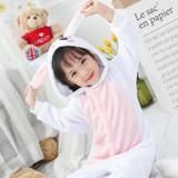 Rabbit Onesie Kids Costume Detailed