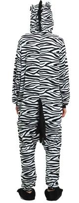 Zebra Onesie Adult Costume Back