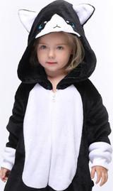 Black Cat Kid Onesie Costume Detailed