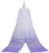Frozen Elsa White Dress Girls Costume Detailed