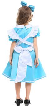Alice in Wonderland Dress Girls Costume Back