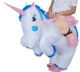 Unicorn Inflatable Kids Costume detailed