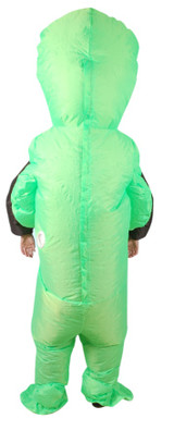 Green Alien Inflatable Adult Costume view back