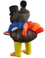 Turkey Inflatable Adult Costume Detailed