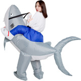Shark Inflatable Adult Costume detailed