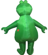 Frog Inflatable Adult Costume Back
