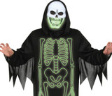 Reaper Skeleton Glow in the Dark Men Costume Detailed