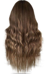 Long Blond Ombre back view