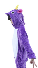 Purple Unicorn Kid Onesie Costume side