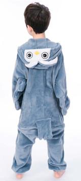 Night Owl Kid Onesie Costume back