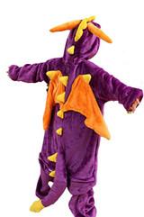 Dragon Purple Toddler Onesie Detailed Image