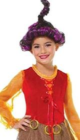 Salem Witch Goofy Girls Costume with Wig