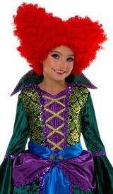 Salem Witch Bossy Girls Costume with wig